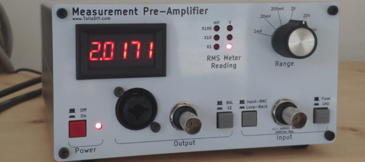 Audio Measurement Pre-Amplifier – Part 4 – Casing the Pre-Amplifier