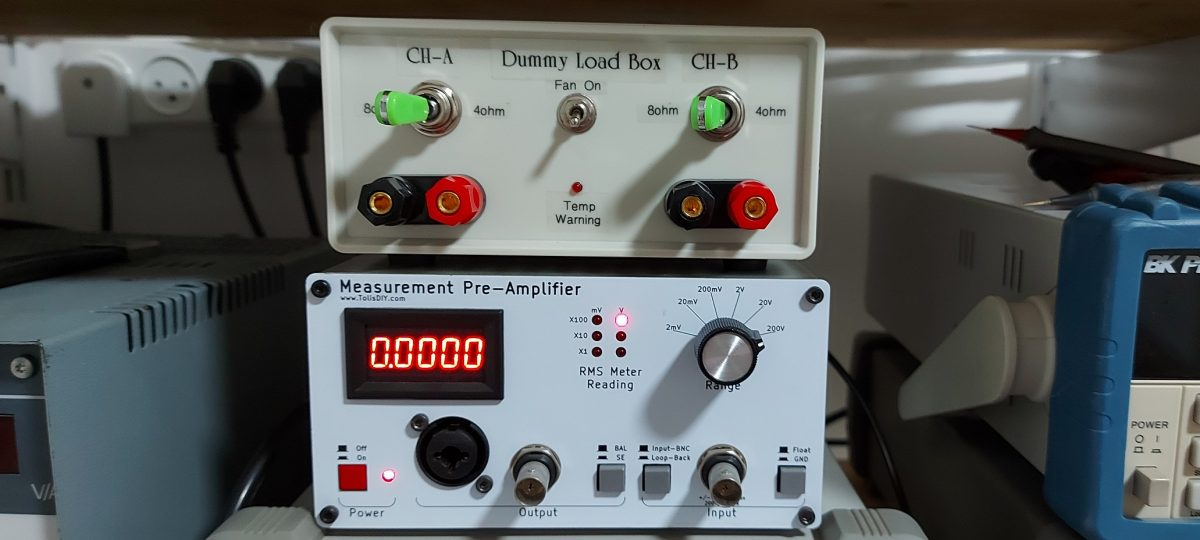 Compact Stereo Dummy Load for Amplifier Testing